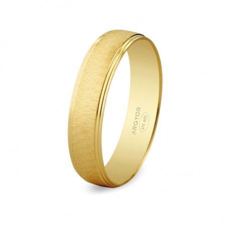 Alianza fabricada en oro de 9 quilates