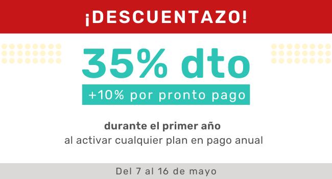 Activa tu tienda de manera anual con un 45% de descuento
