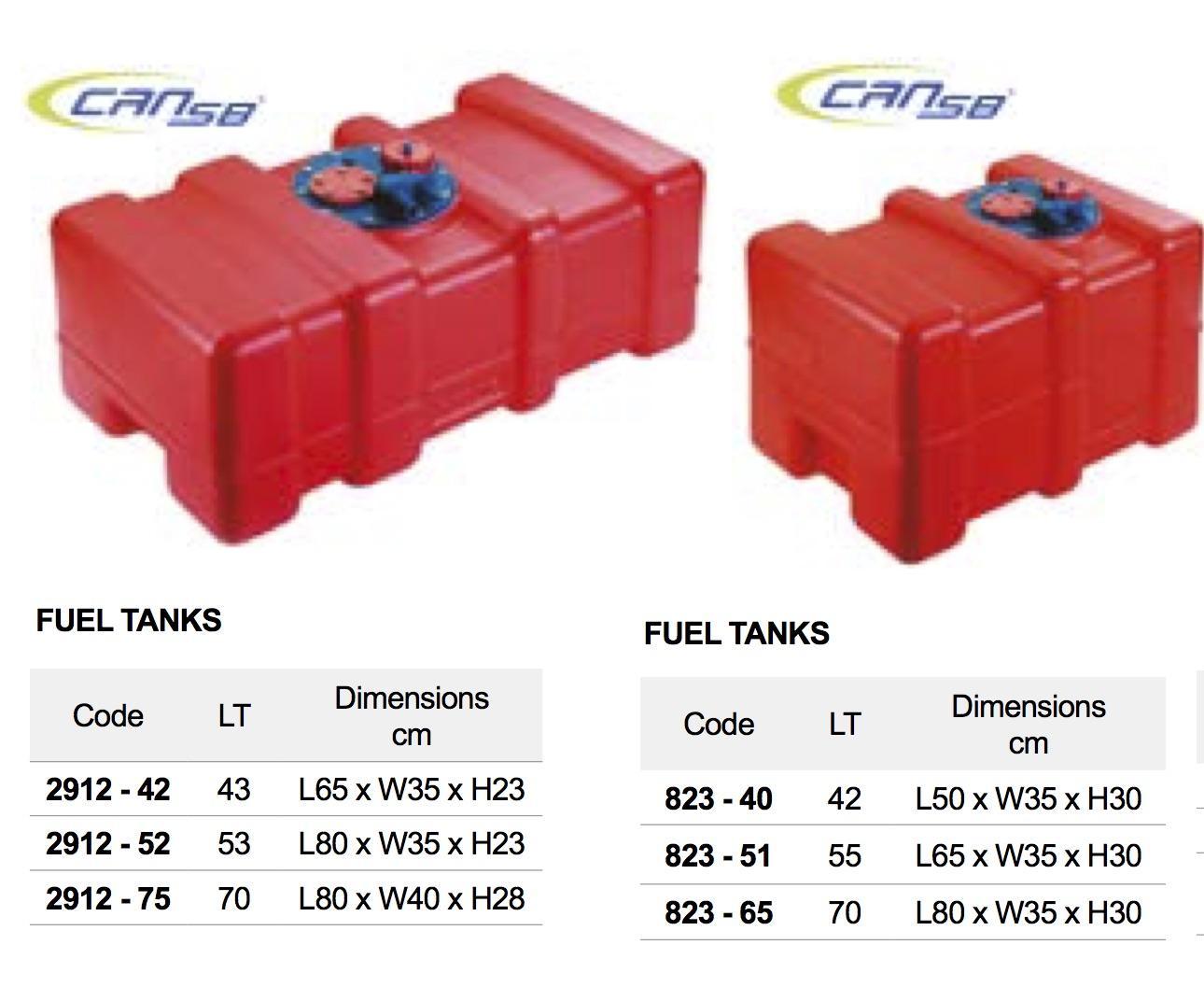 Deposito combustible de 42 - 55 o 70 litros
