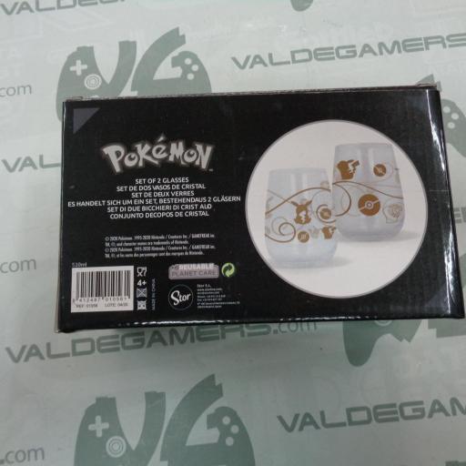 Set de 2 vasos de cristal 510ml Pokémon [1]