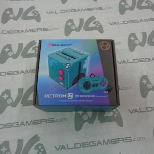 Consola Retron SQ Hyper Beach Azul para Juegos GameBoy - NUEVA