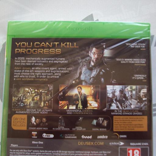 Deus Ex: Mankind Divided Day One Edition UK - NUEVO [1]
