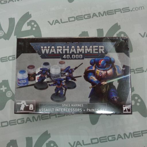 SPACE MARINES ASSAULT INTERCESSORS + PAINTS SET