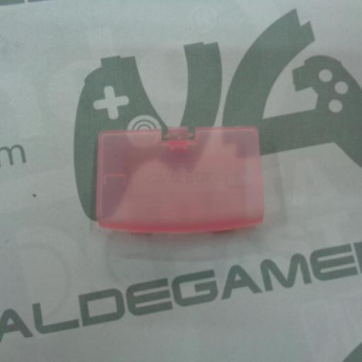 tapa de pilas game boy advance rosa transparente - NUEVO