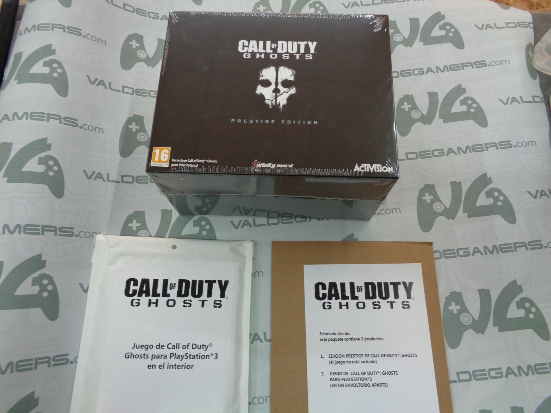 Call of Duty Ghosts Edición Prestige + Juego PS3 - NUEVO