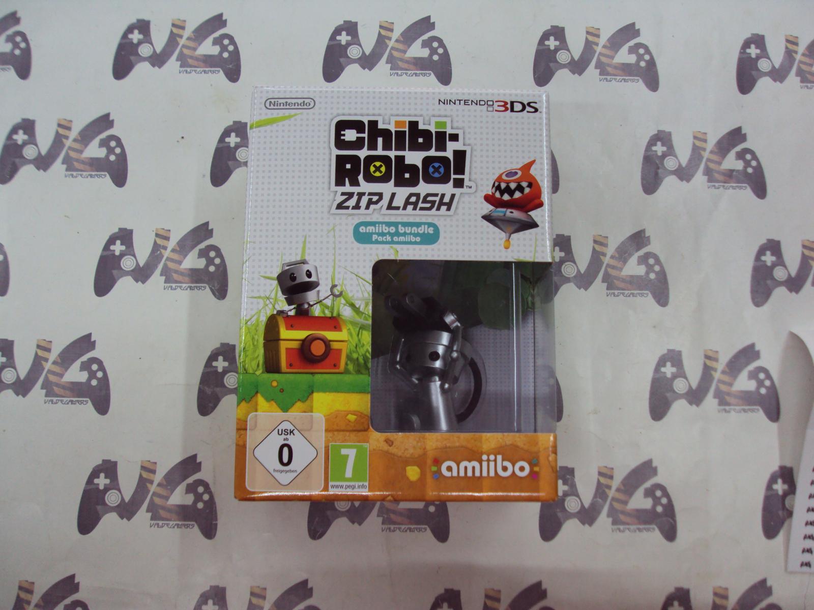 Chibi-Robo! Zip Lash + Figura Chibi-Robo Amiibo - NUEVO