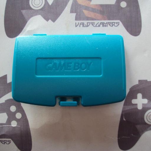 tapa de pilas game boy color  - azul vermuda
