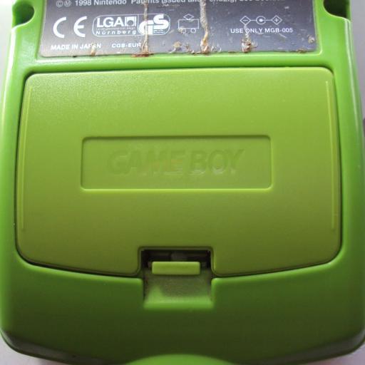 tapa de pilas game boy color  - verde kiwi [1]