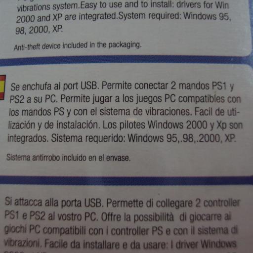 Adaptador mando PS2 a USB - NUEVO [2]