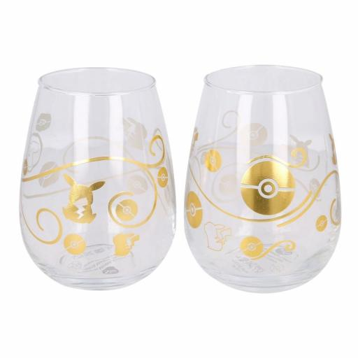 Set de 2 vasos de cristal 510ml Pokémon [2]