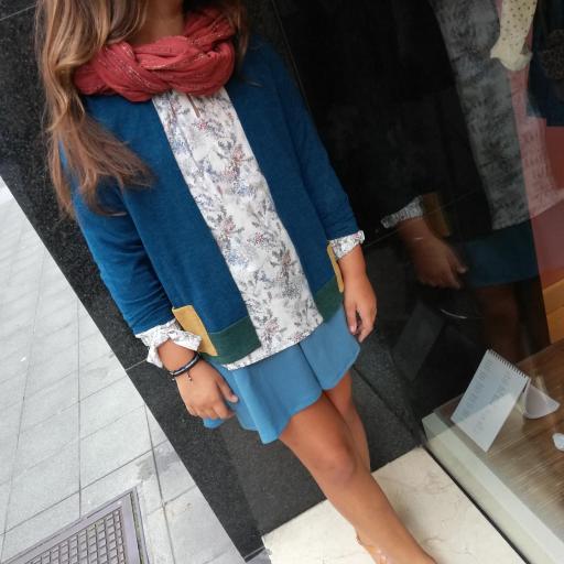 Teckel Green falda azul