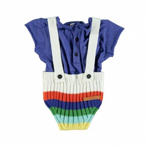 Piupiuchick  camiseta bebe azul