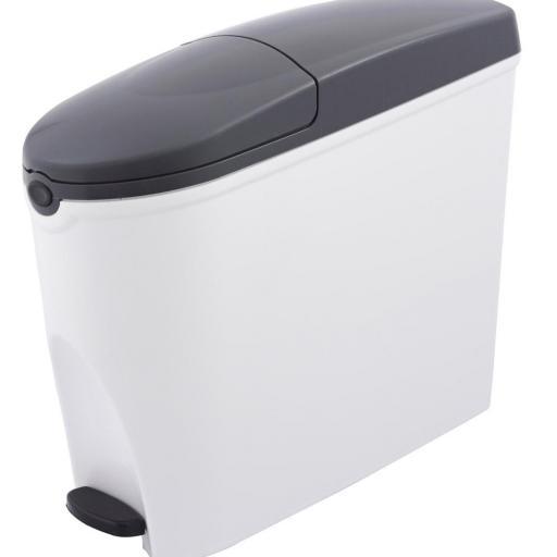 Contenedor higiénico sanitario con pedal 20L. Ladybox JVD (Compresero)