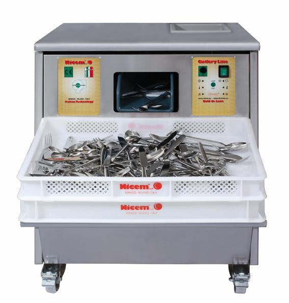 Secadora Pulidora de cubiertos ASC30A Girl 7.000 cubiertos a la hora