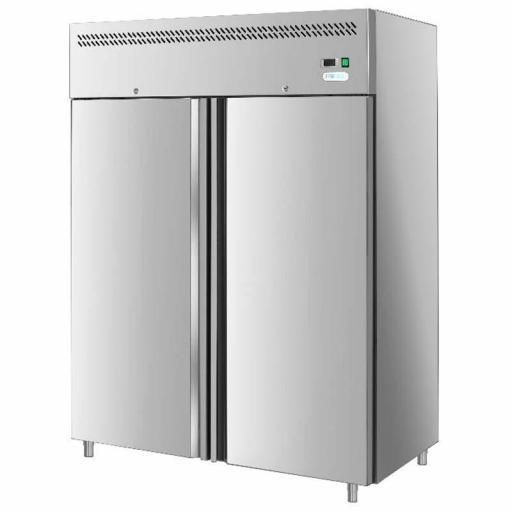 Congelador vertical 1300L puerta doble Forcar G-GN1410BT-FC