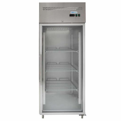 Armario refrigerado ventilado 650L. Puerta cristal G-GN650TNG-FC