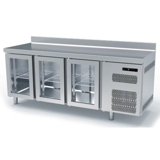 Bajo mostrador Gastronorm con puertas de cristal Worldmai