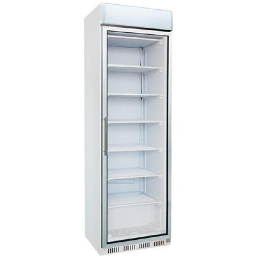 Armario congelador con puerta de cristal 400L. Worldmai C40C-WM