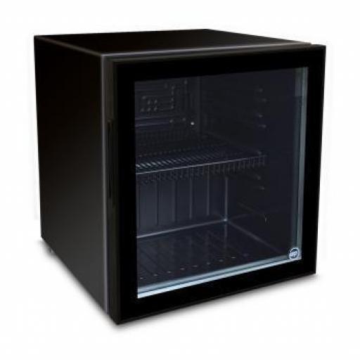 Expositor refrigerado sobre mostrador de puerta de cristal 55L Counter 50 Glass Black