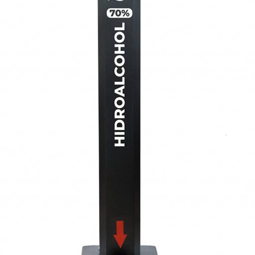 Totem dispensador de gel hidroalcohólico con pedal 5L SP01