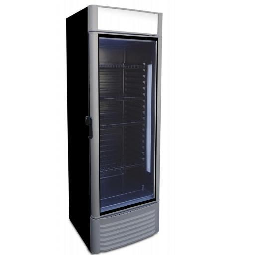 expositor refrigerado puerta cristal