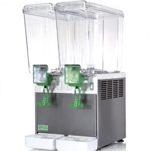 Dispensador de bebidas frías doble 8+8L. Bras Jolly8/2 Línea Milán