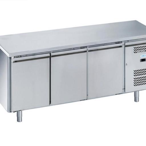mesa snack refrigerada