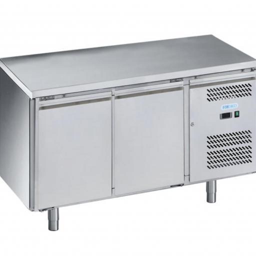 mesa fría 2 puertas acero inox