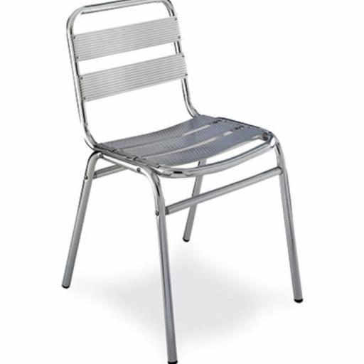 silla de terraza de aluminio