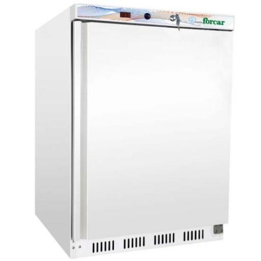 Congelador bajo mostrador blanco 120L. Eco Line Forcar G-EF200