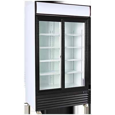 Armario expositor refrigerado doble puerta corredera Worldmai E80C-WM