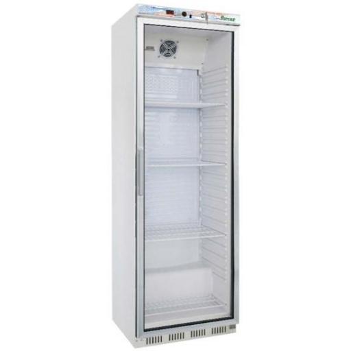 Expositor frigorífico con puerta de vidrio 350L. acero lacado blanco Eco Line Fimar G-ER400G