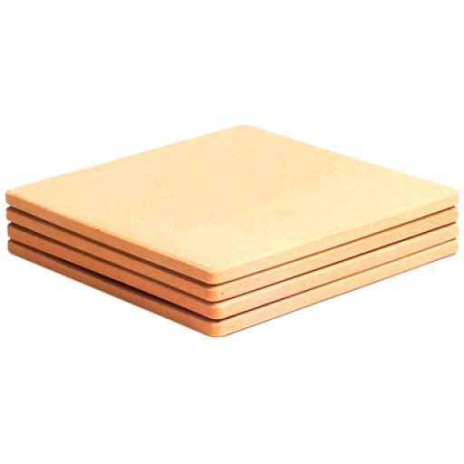 Juego de 2 piedras refractarias para hornos pizza de 330x330x14mm [0]