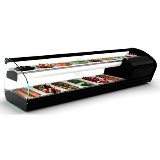 Vitrina para tapas con los 2 pisos refrigerados Worldmai [1]