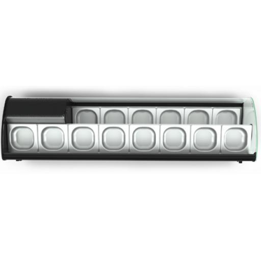 Vitrina para tapas con los 2 pisos refrigerados Worldmai [3]