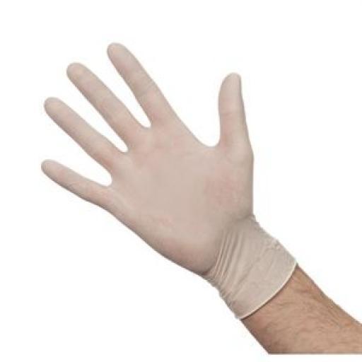 Caja de 100 guantes de látex empolvados A228
