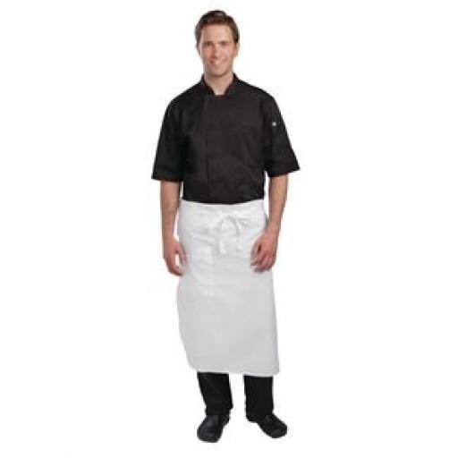 Delantal de cintura reforzado blanco Executive Chefs Chef Works A576