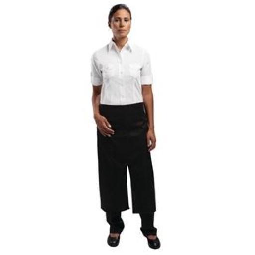 Delantal Bistro con frontal dividido y bolsillo Uniform Works A969 [1]