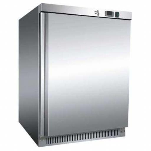Armario frigorífico bajo mostrador de acero inoxidable 140L. Línea Pekín AR200SS