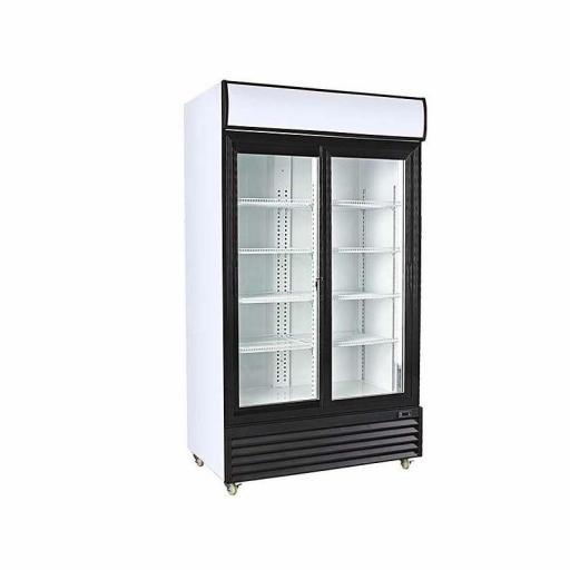 Armario expositor refrigerado 1000 litros 2 puertas correderas de vidrio Pekin CSD1000S