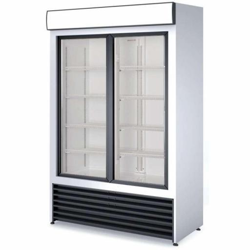 Armario expositor refrigerado 1000 litros 2 puertas correderas de vidrio Córdoba RVCS1000