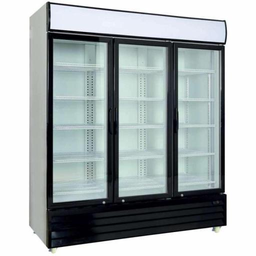 Armario expositor refrigerado 1600 litros 3 puertas batientes de vidrio Pekin CST1600