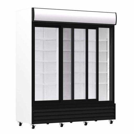 Armario expositor refrigerado 1600 litros 3 puertas deslizantes de vidrio Pekin CST1600S