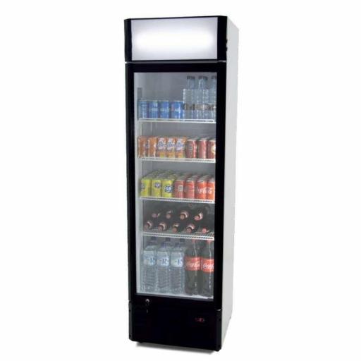 Armario expositor refrigerado 360 litros puerta de vidrio Pekin CS360B