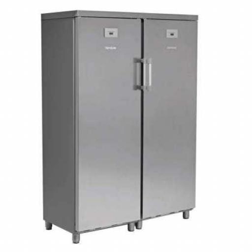 Armario Snack refrigerado Mixto 700L. acero inox de 2 puertas, una de frío y otra de congelación Aveiro KITCF350PROSS