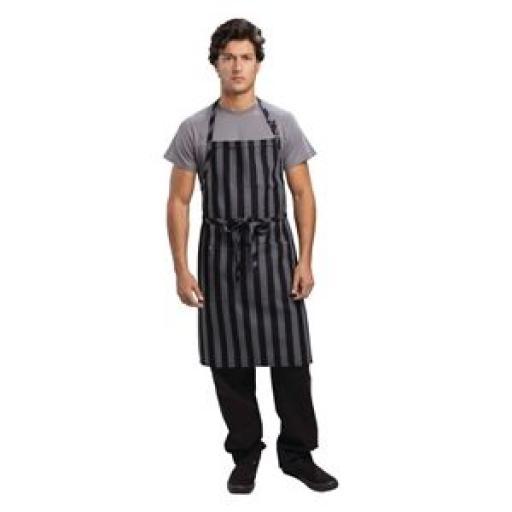 Delantal con peto Chesapeake raya ancha Chef Works
