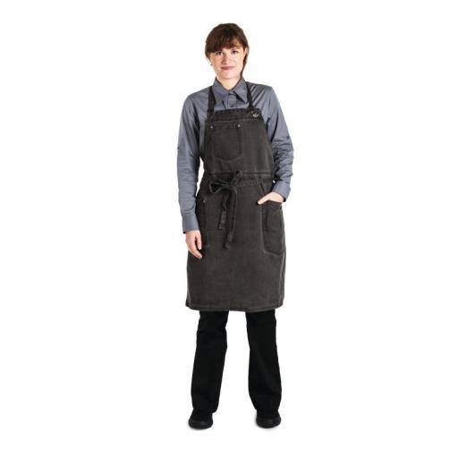 Delantal con peto color gris envejecido unisex Chef Works Dorset BB003