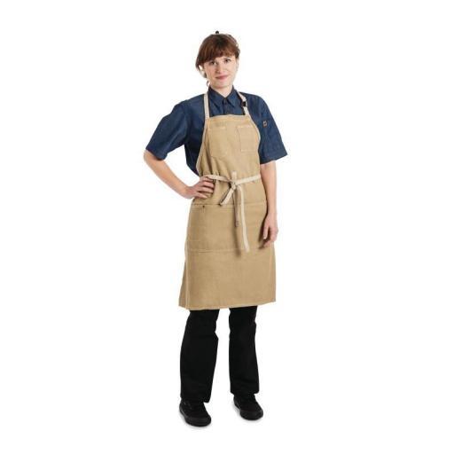 Delantal con peto color Arena unisex Chef Works Austin BB007 [2]