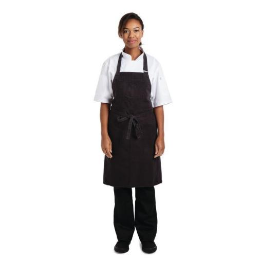 Delantal con peto color gris oscuro unisex Chef Works Rockford BB018 [2]
