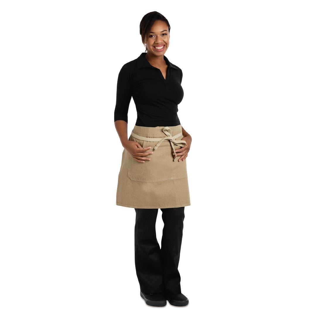 Delantal cintura color Arena unisex Chef Works Austin BB019
